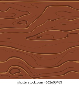 Vector wood background, cartoon seamless pattern.