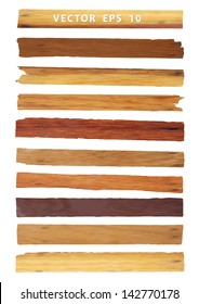 Vector wood plank, isolated on white background