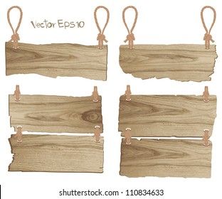 Vector wood signboard
