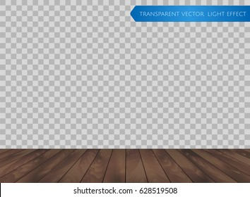 dark wood floor perspective. Vector Wood Table Top Or Wooden Floor Isolated On Transparent Background. Realistic Dark Brown Perspective E