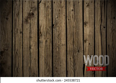 Vector wood texture. background old panels. Grunge retro vintage wooden texture, vector background