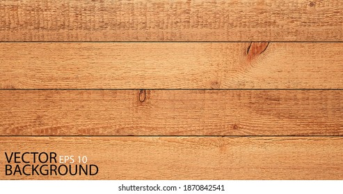 Vector wood texture background. Rough wooden boards.