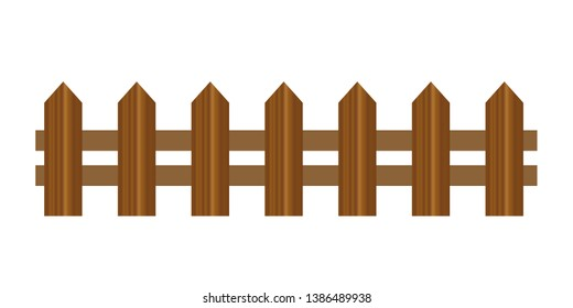 Vector wooden fence different forms. Wood boards silhouette construction in realictic style