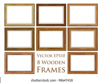 Vector wooden frame set.