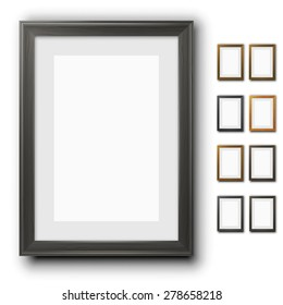 11X14 Leather Photo Frame White Glossy SET OF 2 FRAMES