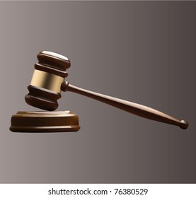 vector wooden gavel