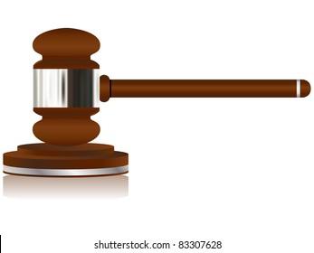 Vector - Wooden Justice Gavel