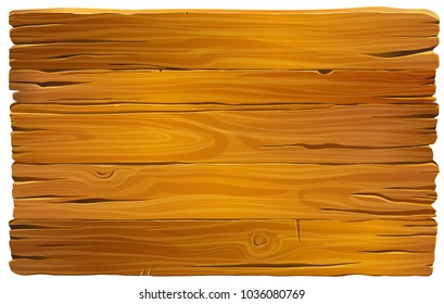 Vector wooden mahogany texture. Old planks of shabby wood.