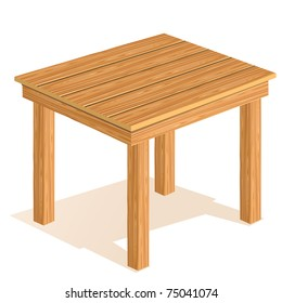 Vector wooden table