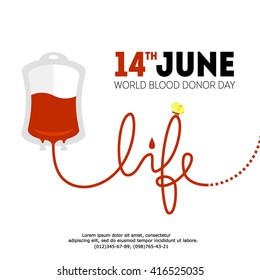 vector World blood donor day June illustration