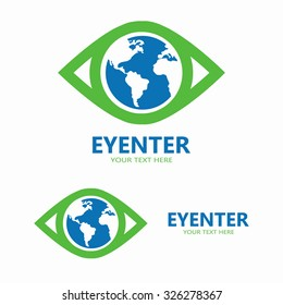 Vector world eye logo
