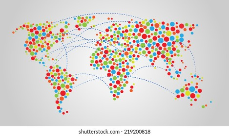 Vector world map background vector de stock219200866 shutterstock vector world map background gumiabroncs Gallery