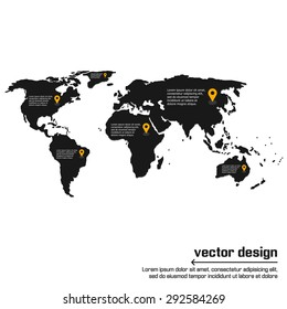 Vector world map design