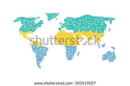 Gabon World Map.Vector World Map Flag Gabon Stock Vector Royalty Free 303619037