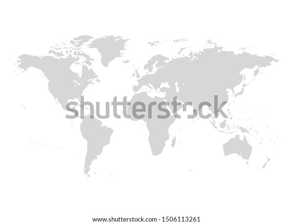 Vector world map illustration australia, asia america europe.