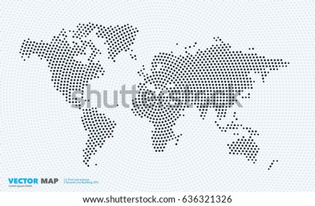 vector world map template round spots stock vector royalty free