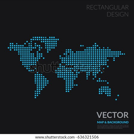 Vector world map template squares business stock vector royalty vector world map template with squares for business graphic design abstract art for technology and gumiabroncs Image collections