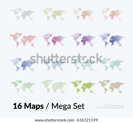 vector world map templates triangles squares stock vector royalty