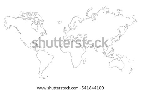 Vector World Map Without Countries Plain Stock Vector Royalty Free
