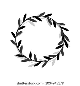 Vector wreath. Design element for invitations, greeting cards.