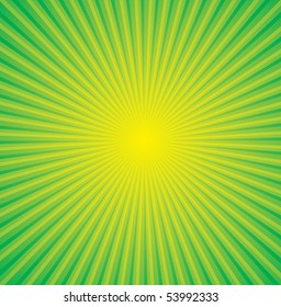 vector yellow background and green ray