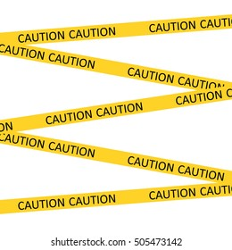 vector yellow barrier tape with the words caution stretched from end to end of the file