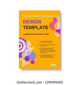 Vector yellow broshure flyer magazine cover design template