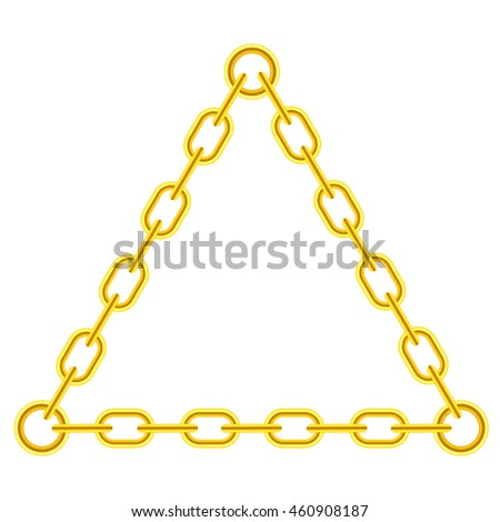 617a6ac77e00 Vector Yellow Chain Triangle Frame Isolated Stock Vector (Royalty ...