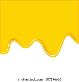 Vector of Yellow Cheese or oil melting for Background