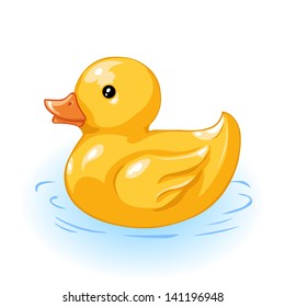 vector yellow duck for bath
