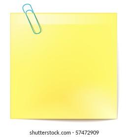 vector yellow sticker