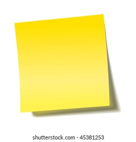 vector yellow sticky note with transparent shade