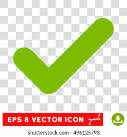 Vector Yes EPS vector pictogram. Illustration style is flat iconic eco green symbol on a transparent background.