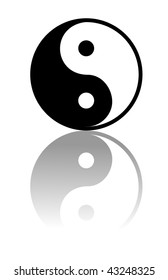 Vector Yin and Yang i-ching illustration