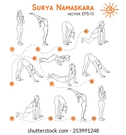 Sketch Yoga Images Stock Photos Vectors Shutterstock