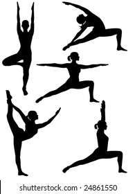 vector yoga silhouette 2