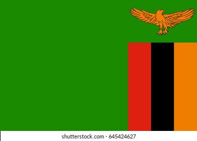 Vector Zambia flag, Zambia flag illustration, Zambia flag picture, Zambia flag image