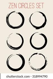 Vector Zen Circles Set Illustration