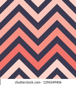 Vector zigzag seamless pattern, gradient, living coral, eclipse