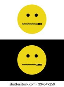 Vector Zipper Mouth Emoticon