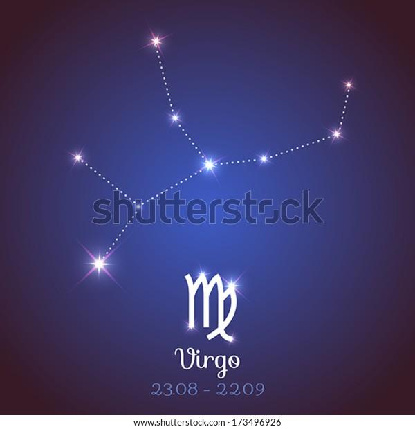 Vector Zodiac Horoscope Symbol Constellation Calendar Stock Vector