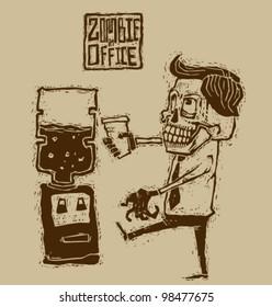 Vector zombie in office