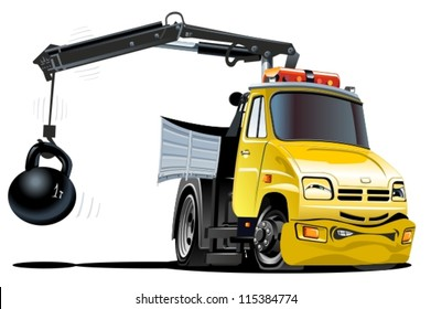 Vectore Cartoon Tow Truck