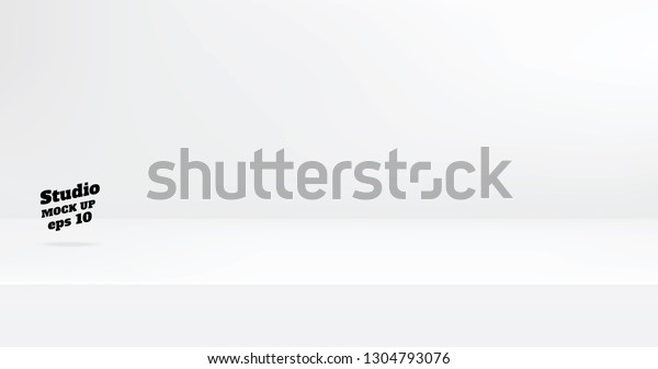 Vector,Empty modern white color studio table room background ,product display with copy space for display of content design.Banner for advertise product on website