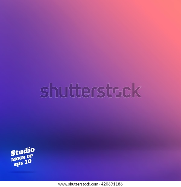Vector,Empty studio room background with purple and blue Material design.