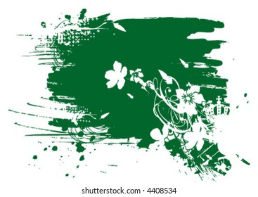 Vectorfleck mit Blumenornamenten