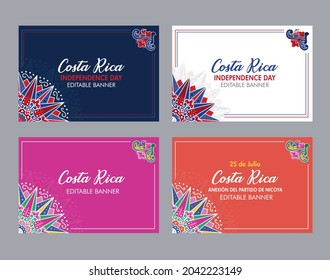 VECTORIAL BANNERS. Costa Rica Independence Day, Annexation of the Nicoya Party, Anexion al Partido de Nicoya, national celebrations, civic holidays, cultural events, Ox cart designs, carreta tipica