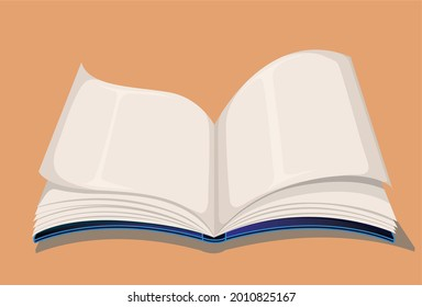 Vectorial illustration of a blue color book