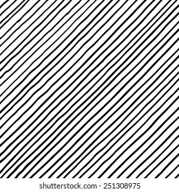 Vectorized ink black and white texture/ Hand drawn lines with different density and incline/ Abstract background/ Vector design elements