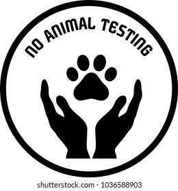 Vectorized non animal testing icons, no animal testing signals
